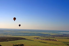 Hot air balloons. Background. Travel in Russia. Balloons in the sky Royalty Free Stock Photo