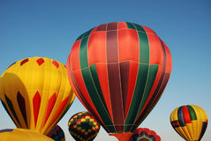 Hot Air Balloons. Getting ready to take off in the early morning Royalty Free Stock Image