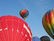 Hot air balloons. At a show stock photos