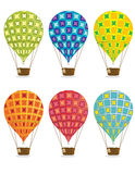 Hot air balloons. Isolated on a white background Stock Image
