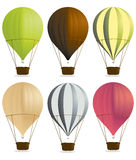 Hot air balloons. Isolated on a white background Royalty Free Stock Photos