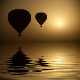Hot Air Balloons At Eye Level Royalty Free Stock Images
