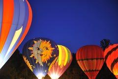 Hot Air Balloons At Night Stock Photos