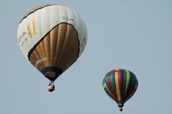 Hot air balloons. AUGUST 2005 - MAINZ: hot air balloons over Mainz, Rhineland Palatine, Germany Royalty Free Stock Photos