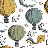 Hot Air Balloons background Royalty Free Stock Photos