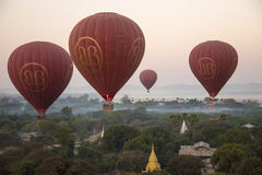 Hot Air Balloons - Bagan - Myanmar (Burma) Stock Photo