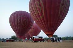Hot air balloons in Bagan, Myanmar. Hot air balloons at the morning in Bagan, Myanmar Royalty Free Stock Image