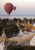 Hot Air Balloons - Bagan - Myanmar Royalty Free Stock Images