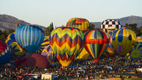 Hot Air Balloons. Hot Air Balloon Race in Reno NV Royalty Free Stock Images