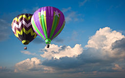 Hot air balloons in blue sky Royalty Free Stock Images