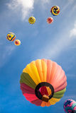 Hot-air balloons with blue sky and clouds background Royalty Free Stock Photos