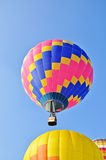 Hot air balloons in the blue sky Stock Images