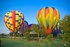 Hot Air Balloons on the Bluff Royalty Free Stock Image