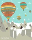 Hot air balloons in Cappadocia Stock Photos