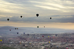 Hot air balloons in Cappadocia Stock Image