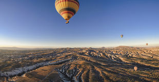 Hot air balloons in cappadocia Stock Photo