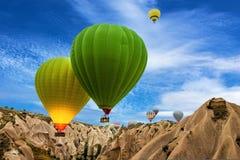 Hot air balloons in Cappadocia, Turkey Royalty Free Stock Photography