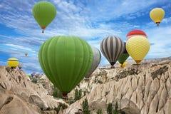 Hot air balloons, Cappadocia, Turkey Stock Photos