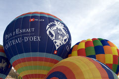 Hot Air Balloons - Chateau-d'Oex 2010 Stock Photos