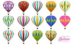 Hot air balloons collection set Royalty Free Stock Photography