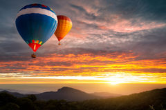 Hot-air balloons Stock Images