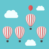 Hot air balloons competition Stock Image