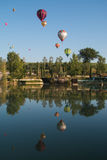 Hot air balloons competition in Umbria Royalty Free Stock Image