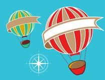 Hot air balloons copyspace Stock Photos
