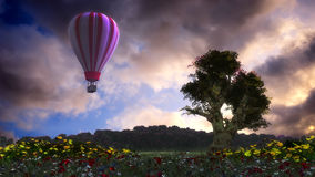 Hot air balloons. 3d illustration of hot air balloon Stock Photography