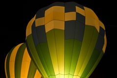 Hot air balloons in darkness Royalty Free Stock Images
