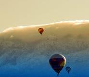 Hot air balloons at dawn Royalty Free Stock Photos