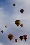 Hot Air Balloons At Dawn At The Albuquerque Balloon Fiesta Royalty Free Stock Photos