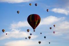 Hot Air Balloons At Dawn At The Albuquerque Balloon Fiesta Royalty Free Stock Image