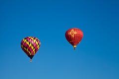 Hot Air Balloons At Dawn At The Albuquerque Balloon Fiesta Stock Photos