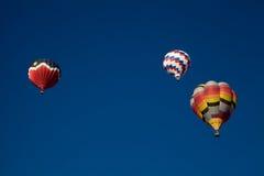 Hot Air Balloons At Dawn At The Albuquerque Balloon Fiesta Stock Image
