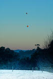Hot air balloons at dawn Royalty Free Stock Photos