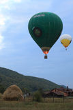 Hot Air Balloons in the evening sky royalty free stock image