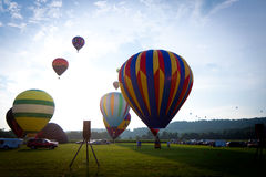 Hot air balloons festival in New Jersey Stock Images