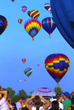 Hot air Balloons festival in Quebec Stock Image
