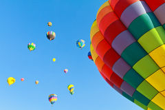 Hot air balloons fiesta Royalty Free Stock Image