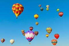 Hot air balloons fiesta stock photos