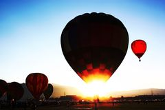 Balloon Fiesta Sunrise Royalty Free Stock Images