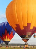 Hot air balloons at the first festival of aeronautics Moscow Sky, August, 2014. The first festival of aeronautics was a great event visited by thousands of Royalty Free Stock Photos