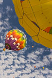 Hot air balloons in flight Royalty Free Stock Photos