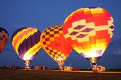 Hot air balloons flight. Hot Air Ballooning flight transportation Stock Image
