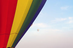 Hot air balloons floating in the morning sky Royalty Free Stock Images
