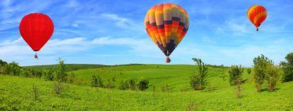 Flying over the farmlands royalty free stock image