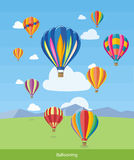 Hot Air Balloons Flying Royalty Free Stock Photo