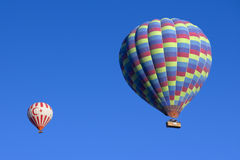 Hot air balloons flying in Turkey Stock Photos