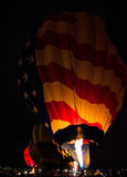 Hot Air Balloons glowing at night Stock Photos